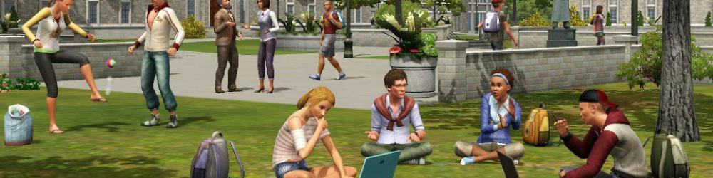 The Sims 3 Studentský život banner